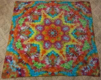 Mandala Tie Dye Tapestry (About 4' x 4')
