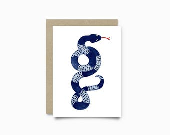 Greeting card - Snake