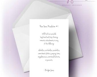 Bridget Jones New Years Resolution | Card