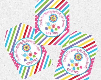 Candy Land Party Favor Tags | Candy Land Decorations | Candyland Birthday | Sweet Shoppe Party | Candy Party | Rainbow | The Party Darling
