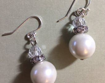 Crystal and Pearl Earring