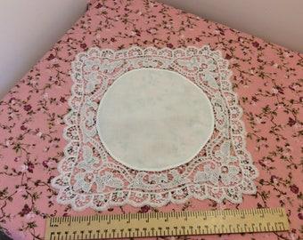 Lace handkerchief, vintage handkerchief, hand sewn hankie, vintage lace, vintage gift, bridal handkerchief, wedding handkerchief
