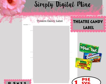YOU Design!!! .. theature candy Label Templates!!