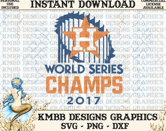 Instant Download - Personal Use - World Series Champions Astros plus 2 logo safe files SVG PNG DXF - Cut, Shirt Cup Design Wall Art