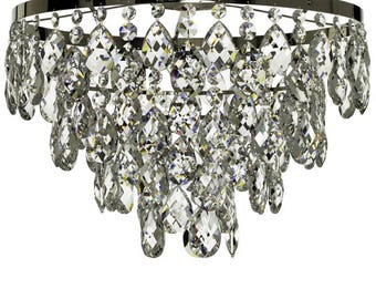 Chrome Bathroom Chandelier with crystals