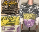 Magic Johnson // Los Angeles Lakers sweatshirt // Vintage all over print // adult size large // magic johnson t's // rare retro original 90s