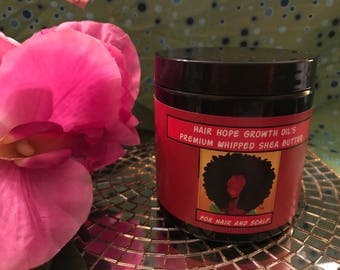 Hair Hope Growth Oil Whipped Shea Butter for hair and scalp.