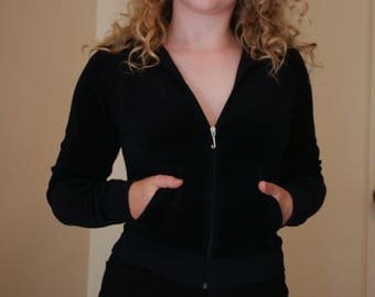 Juicy couture cropped velour jacket