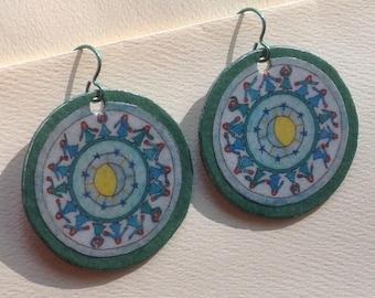 dancers mandala*paper earrings*by*paula