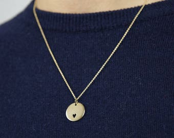 """""""Heart"""" - gold Champagne - Hand-made Locket necklace"""