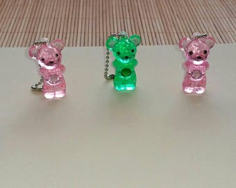 DESTASH-->COLLECTABLE Plastic Key Chain Bears
