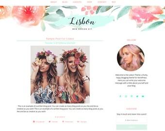 WordPress Blog - LISBON - Hippie WordPress Blog Theme, Boho WordPress Template - Premade WordPress Design – Responsive Wordpress Theme