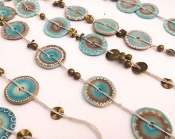 Polymer clay tutorial - Flat beads
