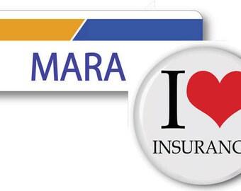 MARA From Progressive Insurance Halloween Costume Name Badge Tag pin Fastener & Button Ships ASAP FREE
