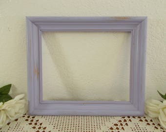 Purple Picture Frame 8 x 10 Photo Decoration Up Cycled Vintage Rustic Shabby Chic Rustic Distressed Wood French Country Cottage Home Decor