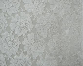 "Dressmaking Material, White Net Fabric, Sewing Accessories, Upholstery Fabric, 41"" Inch Indian Fabric By The Yard ZBD197A"