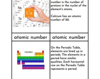 Montessori Periodic Table of Elements Three/Four Part Cards