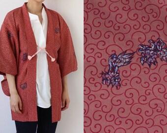 Karakusa kimono jacket, Haori, Japanese kimono, lion /1779