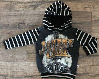 Johnny cash, baby romper, handmade baby bodysuit, custom baby gift, trendy toddler clothes, countey music, t-shirt romper, baby