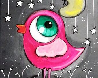 Pink chick fabric