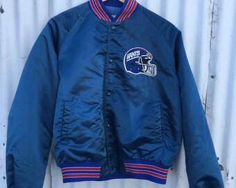 Vintage Mens Large New York Giants Football Chalk Line Jacket