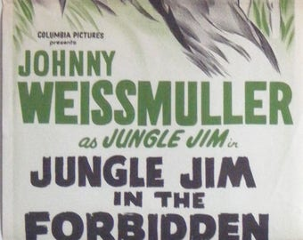 Jungle Jim In The Forbidden Land - 1970's Re-issue -  Australian daybill movie poster