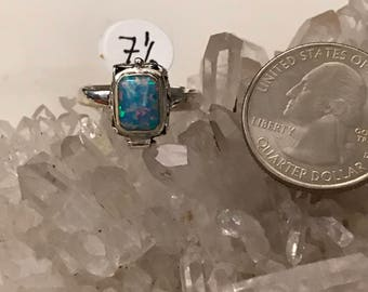 Opal Poison Ring Size 7 1/2