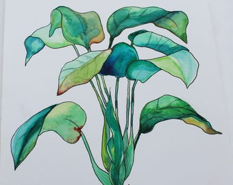 Original Handmade botanical painting