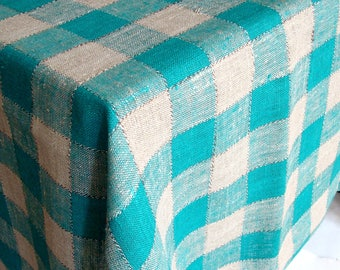 Holiday table cloth Christmas TABLECLOTH Dining table cloth rectangle LINEN tablecloth by Luxoteks