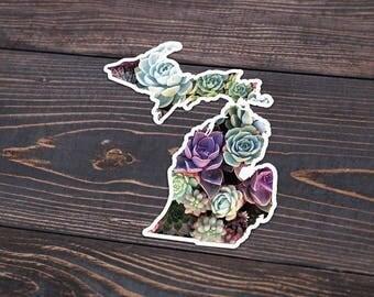 Michigan Succulent Decal