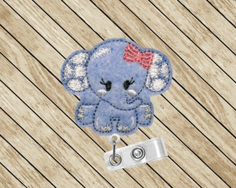 Elephant Badge Reel, Elephant, Badge Pull, ID Badge Reel, ID Badge Holder, Retractable Badge Holder, Nurse Badge Reel, Badge Lanyard