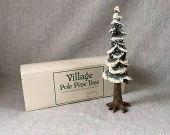 Vintage Department 56 Village Pole Pine Tree, Christmas Village