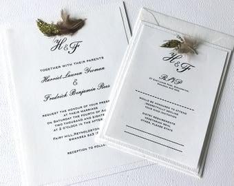 White elegance Collection, Wedding Invitation