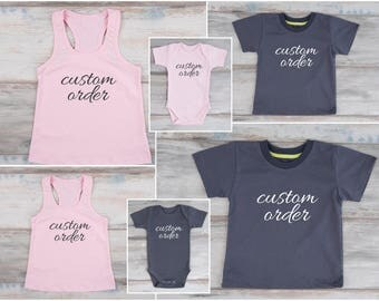 Custom Family Shirts Matching Family Shirts Daddy and Me Outfits Mommy and Me Shirts Matching Mommy and Baby Dad and Baby Matching Shirts