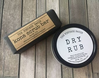 Men's Stocking Stuffer, Hand Scrub and Balm