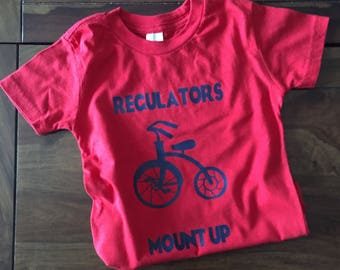 Regulators Mount Up Shirt, Bike Shirt, Boys Regulators Shirt, Warren G Shirt, Tricycle Shirt
