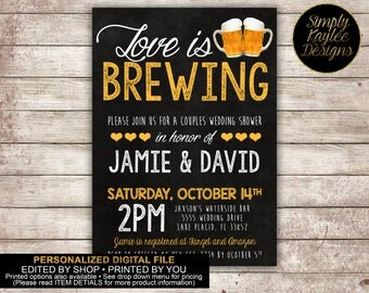 Love is Brewing Engagement Party Invitation
