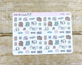Two Tuesday: Kawaii Travel Planner Stickers