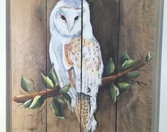 Owl Pallet Art