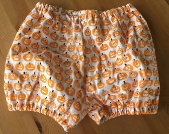 Pumpkin Diaper Cover/Bloomers, Halloween Diaper Cover (Newborn, Infant, Toddler, Photo Prop)