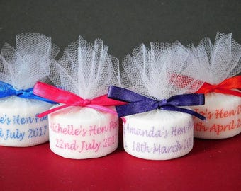 Personalised Candle Tealight Hen Party Favours With Set of 10