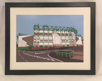 Hibernian Football Club, Easter road stadium framed Print
