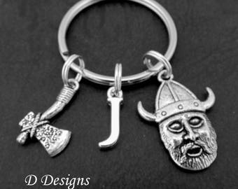 Viking KeyRing, Viking KeyChain, Axe Key Chain, Travellers Keyring, Personalised Key chain, Viking Gifts, Travelling Gifts