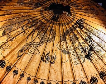 Oriental Dragon Paper Umbrella