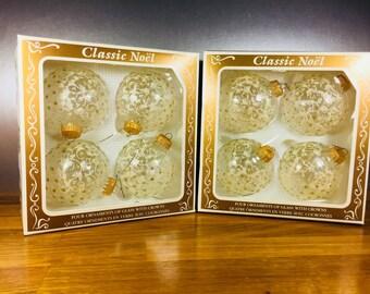 Classic Noel Glass Ornaments