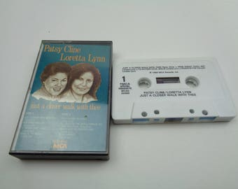 Patsy Cline and Loretta Lynn Walk a Little Closer With Thee Cassette