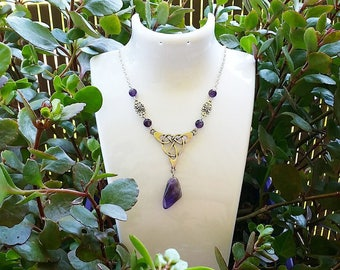 ☆ ☆ genuine Amethyst Celtic necklace.