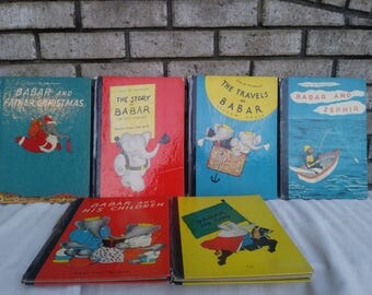 6 1930s first edition  Babar The Elephant books
