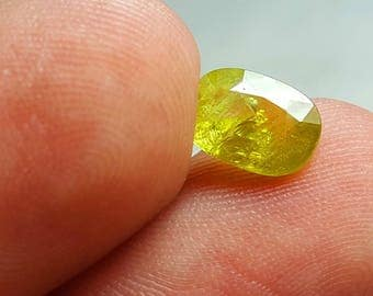 WOW 1.7 Carat Beautiful yellow Color Loose Gemstone Sphene (Titanite) @Afghani 8*4*3.5mm (8)