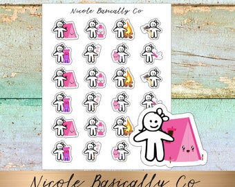 Cutie Pies- Camping Planner Stickers
